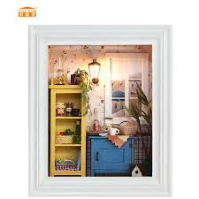 relax house furniture. cute room miniature wooden doll house with diy furniture relax puzzle toys for kids children birthday e