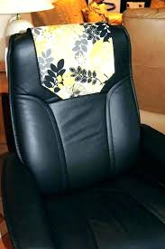chair head covers leather protector lovely recliner headrest cover black office