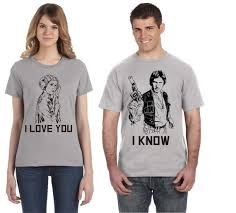 You Shirts I Love You I Know Star Wars Disney Couple Shirts Han Etsy