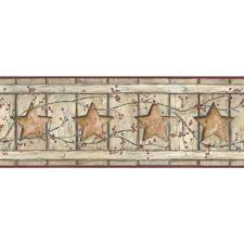 country keepsakes cutout star x 9 wood border wallpaper cutouts wooden star