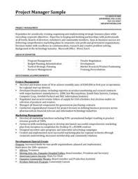 27 project manager sample resumes examples of project manager resumes