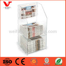 newspaper rack for office. 2tiered acrylic newspaper rack for tables indoor office furniture p