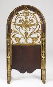 victorian fireplace screens victorian arched top gilt and patinated bronze fireplace screen