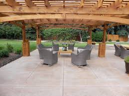 Stamped Concrete Patio Floor Design Pattern With 10 Images As