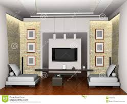Living Room 3d Design Modern Interior Of The Living Room 3d Royalty Free Stock Photo