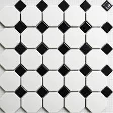 black and white tile floor. Mosaic Tile Matt Black And White Wall Floor Tiles Puzzle Parquet Bathroom Flooring Ceramic Mirror Kitchen Backsplash A