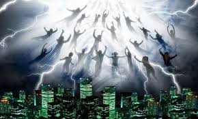 Image result for pictures of people being raptured