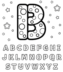 alphabet coloring pages b 12