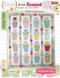 Tulip Pots Downloadable PDF Quilt Pattern Bee in my Bonnet   Fat ... & Tulip Pots Downloadable PDF Quilt Pattern Bee in My Bonnet ... Adamdwight.com