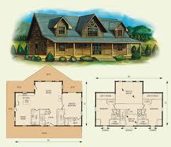 Custom Log Home Design  Murray Arnott DesignOpen Log Home Floor Plans