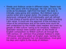 lecture joseph addison st hour richard steele nd hour  11 steele and addison