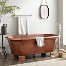 65 ellery hammered copper footed tub