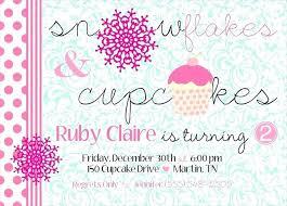 Snowflake Birthday Invitations Snowflake Birthday Invitations Snowflakes And Cupcakes