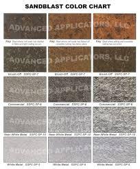 Advanced Applicators Llc Sandblast Color Chart