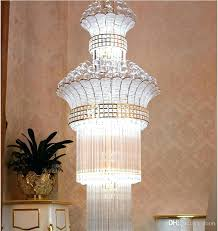 chandelier candle holder newly big crystal led lamps modern long large chandeliers villa living room hanging c