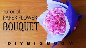 Paper Flower Bouquet Tutorial How To Make Paper Flower Bouquet Tutorial Easy Step By Step