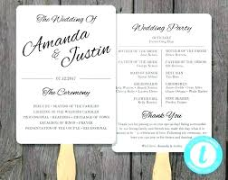 wedding program template printable fan instant edit free templates rustic programs and paddle w