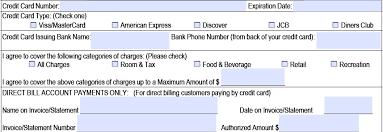 hilton credit card authorization form part 2 credit
