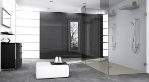 a large luxurious frameless glass shower walk in shower enclosure with twin shower heads and fiora