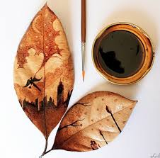 coffee art painting. Interesting Art Natural Leaf And Coffee Art Who Knew I Love This More Than Coffee Inside Coffee Art Painting A