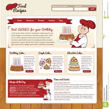 Food Recipe Template Food Recipes Web Template Stock Vector Illustration Of Layout