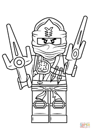 15 Awesome Lego Ninjago Coloring Pages Jay Karen Coloring Page