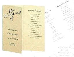Wedding Programs Template Free Folded Wedding Program Template