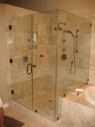 3 8 thick clear tempered glass frameless 90 degree shower enclosure with the glass