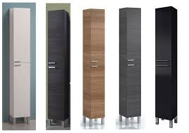 tall thin cabinet. Plain Thin Koncept Tall Narrow Bathroom Cupboard Storage Cabinet Soft Gloss White Ash  Grey On Thin H