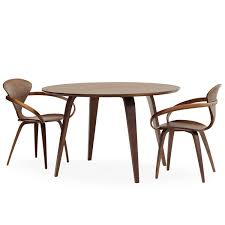 cherner furniture. classic walnut with cherner round table furniture