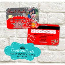 Credit Card Party Invitations Wedding Credit Card Red Gray Invitations Invitaciones De Boda