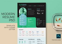 Modern Resume Not Including Objective Modern Resume Template In Psd With Cover Letter Zippypixels