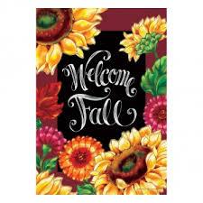 fall garden flags. Fall Garden Flag - Welcome Sunflowers Flags N