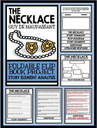 necklace by guy de maupassant short story foldable flip book project the necklace by guy de maupassant short story foldable flip book project