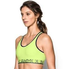 Details About Under Armour Sports Bra Medium Impact Sports Bra Lime Green Size Xs New