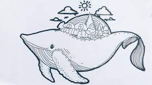 สอนวาดปลาวาฬกับอาณาจักรในท้องทะเล How to draw a Whale - YouTube