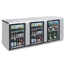beverage air bb72hc 1 gs s 27 72 stainless steel sliding glass door back bar refrigerator
