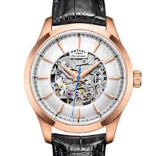 rotary mecanique rose gold plated automatic watch gs05036 06 rotary mecanique rose gold plated automatic watch gs05036 06