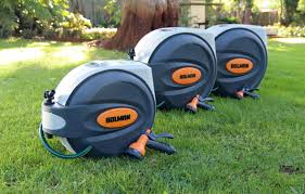 automatic garden hose reel.  Hose Auto Retractable Garden Water Hose Reel Designs To Automatic W