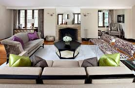 furnitures gorgeous living room with black coffee table and grey sofa also grey cushions unique
