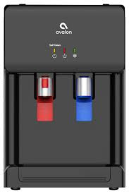 countertop self cleaning bottleless water cooler dispenser hot cold black contemporary hot water dispensers by avalon