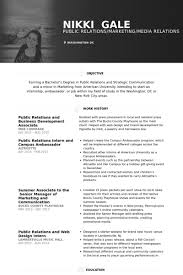 Public Relations And Business Development Associate Resume samples
