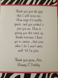 Thank You Note For Gift Kiddo Shelter
