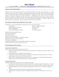 Fiber Optics Technician Resume Sales Fiber Optics Lewesmr