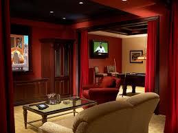 basement home theater room. sports retreat basement home theater room e