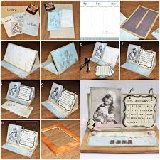 How to make your own Handmade Calendar step by step DIY instructions, How  to,