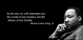 Martin Luther King Silence Quote Quotes By People