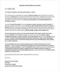 faculty letter of recommendation simple faculty reference letter download reference letter