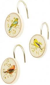 <b>Набор из 12 крючков</b> для шторки Avanti Gilded Birds 11984G ...