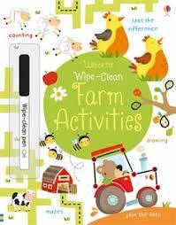 wipe clean farm activities at usborne children s books